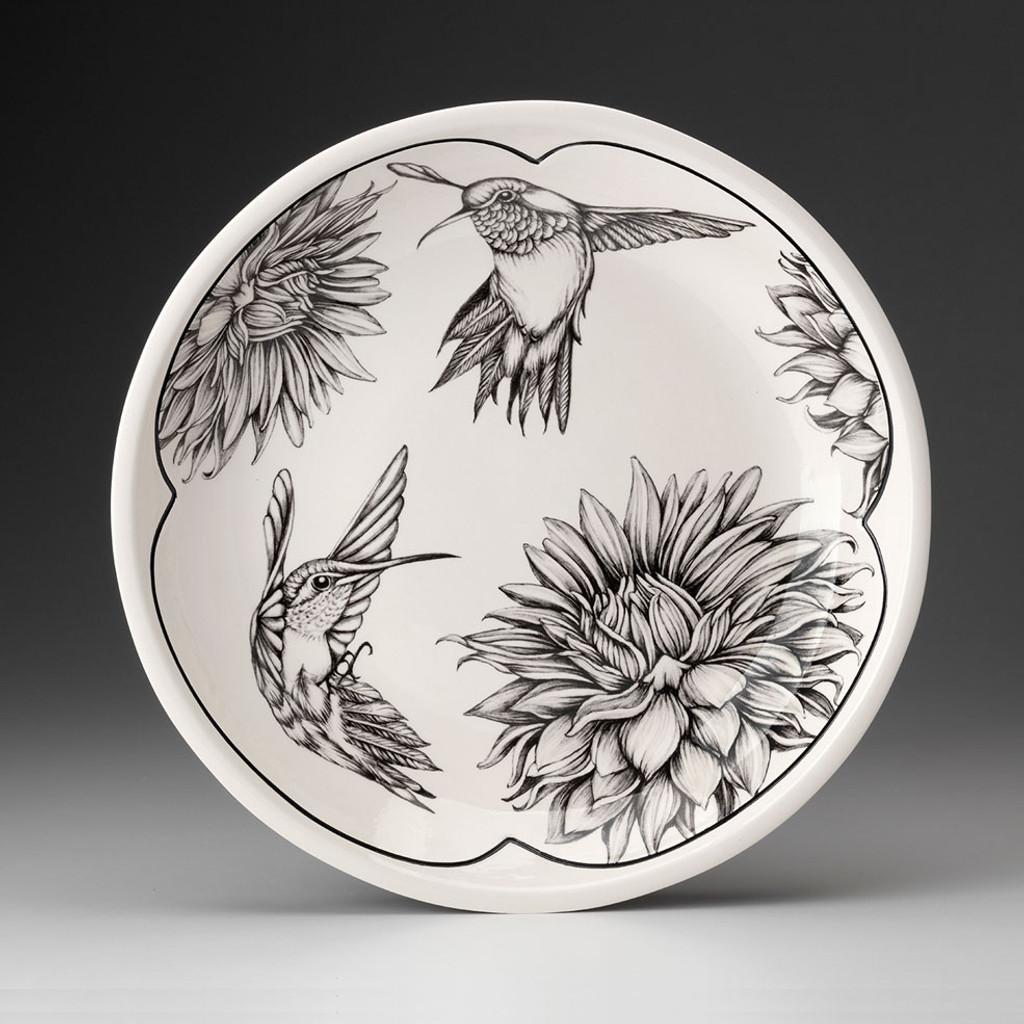 Small Round Platter: Hummingbird #2