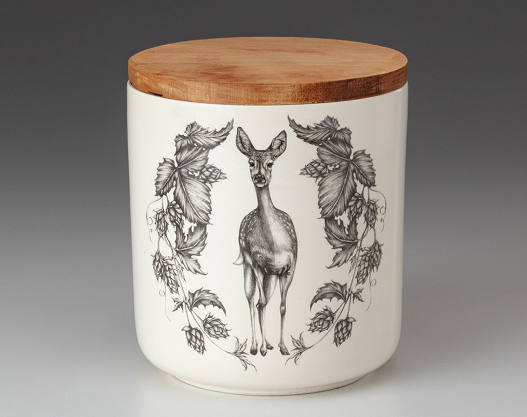 Small Canister with Lid: Fallow Doe