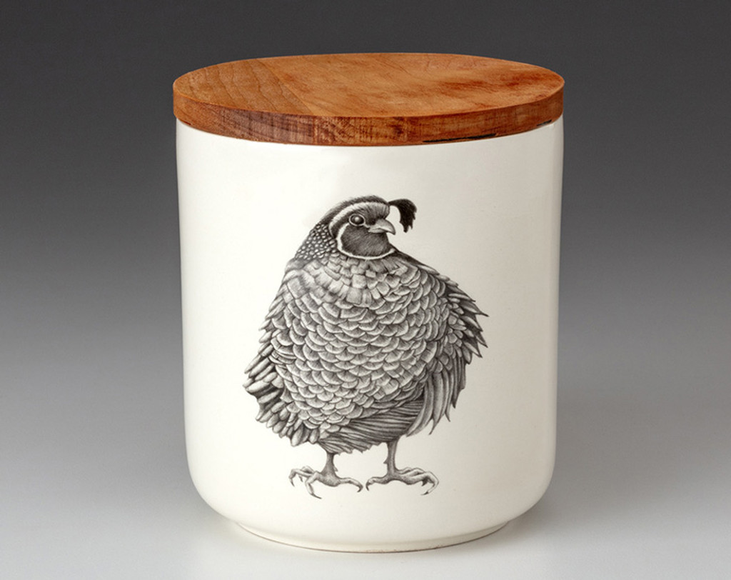 Small Canister with Lid: Quail #3