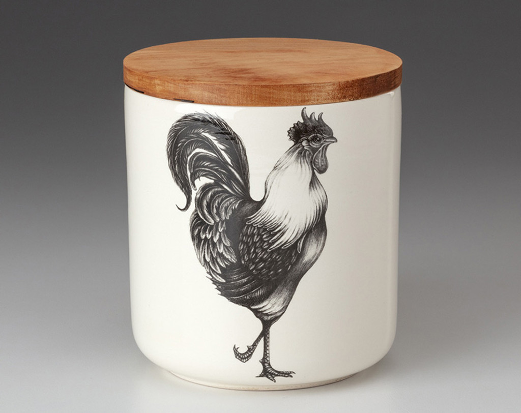 Small Canister with Lid: Rooster