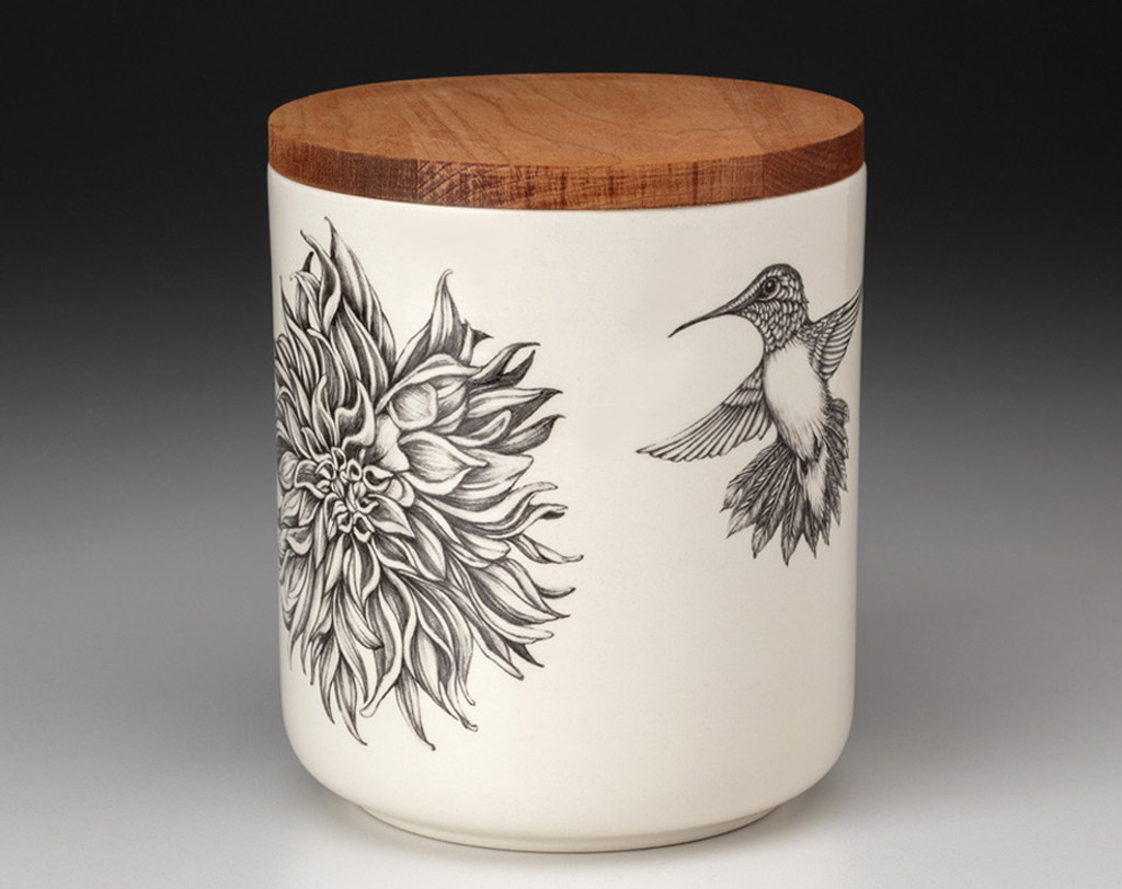 Small Canister with Lid: Plate Dahlia