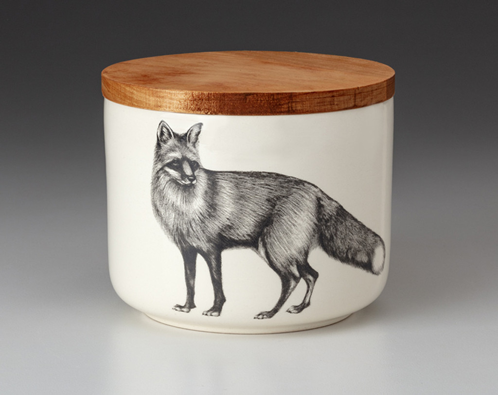 Mini Canister with Lid: Red Fox
