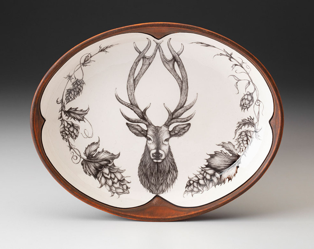 Small Serving Dish: Red Stag