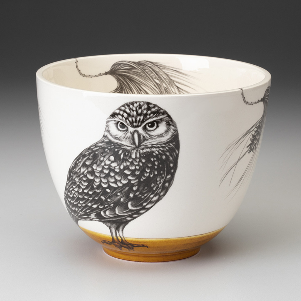 Medium Bowl: Burrowing Owl