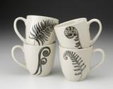Set of 4 Mugs: Ferns