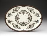 Oval Platter: Monarch Butterfly