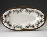 Oblong Serving Dish: Oak Moth