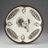 Small Round Platter: Owl Skull