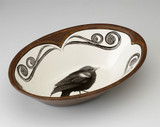 Large Serving Dish: Red-Winged Blackbird