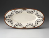 Oblong Serving Dish: Marble Butterfly