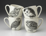 Set of 4 Mugs: Owls
