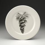 Dinner Plate: White Pine Cone