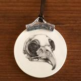 Ornament: Owl Skull