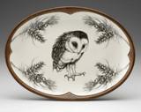 Oval Platter: Barn Owl