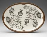 Oval Platter: Pomegranate