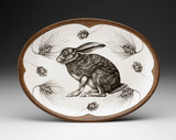 Oval Platter: Crouching Hare