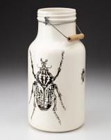 Jug with Handle: Goliath Beetle