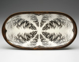 Rectangular Serving Dish: White Pine Cone