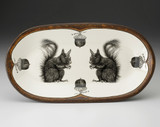 Rectangular Serving Dish: Squirrel