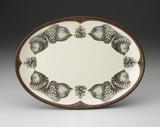 Oval Platter: Double Acorn