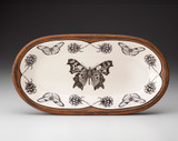 Rectangular Serving Dish: Anglewing Butterfly