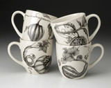 Set of 4 Mugs: Gourds