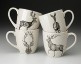 Set of 4 Mugs: Deer