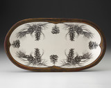 Rectangular Serving Dish: Pine Branch