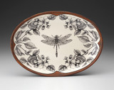 Oval Platter: Dragonfly with Apple Blossom
