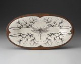 Oblong Serving Dish: Dragonfly Magnolia Branch