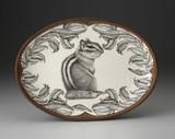 Oval Platter: Chipmunk #3