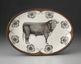 Oval Platter: Hereford Bull