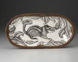 Rectangular Serving Dish: Chipmunk #2
