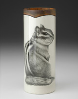 SMALL VASE - WOODLAND Chipmunk #3 LAURA ZINDEL DESIGN