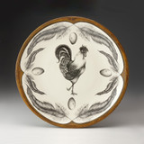 Large Round Platter: Rooster