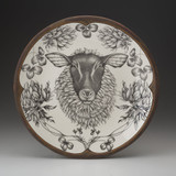 Large Round Platter: Suffolk Sheep