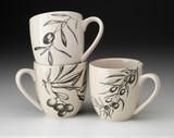 Set of 3 Mugs: Olive