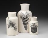 Set of 3 Jars: Acorns & Pine Cones