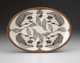 Oval Platter: Hedgehog #1