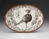 Oval Platter: Pheasant