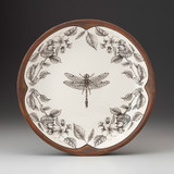Small Round Platter: Dragonfly