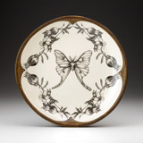 Small Round Platter: Luna Moth