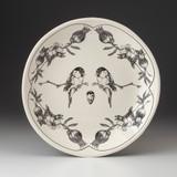 Small Round Platter: Chickadee