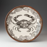 Small Round Platter: Blue Crab