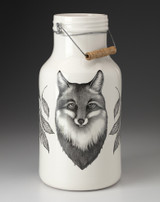 Jug with Handle: Fox Portrait