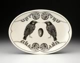 Oval Platter: Starling