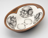 Large Serving Dish: Hermit Crab