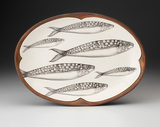 Oval Platter: Sardines