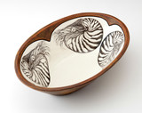 Large Serving Dish: Nautilus