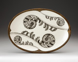 Oval Platter: Coiled Wood Fern